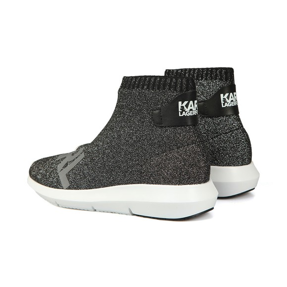 Karl Lagerfeld Womens Silver Vitesse Legere Ankle Boot main image