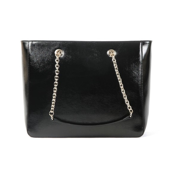 Love Moschino Womens Black Metallic Logo Bag main image