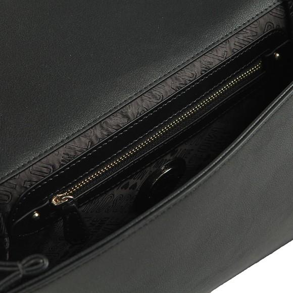 Love Moschino Womens Black Metal Logo Small Bag main image