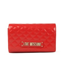 Love Moschino Womens Red Borsa Quilted Clutch