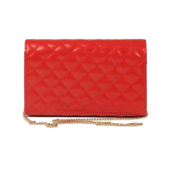 Love Moschino Womens Red Borsa Quilted Clutch main image
