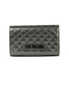 Love Moschino Womens Grey Borsa Quilted Clutch