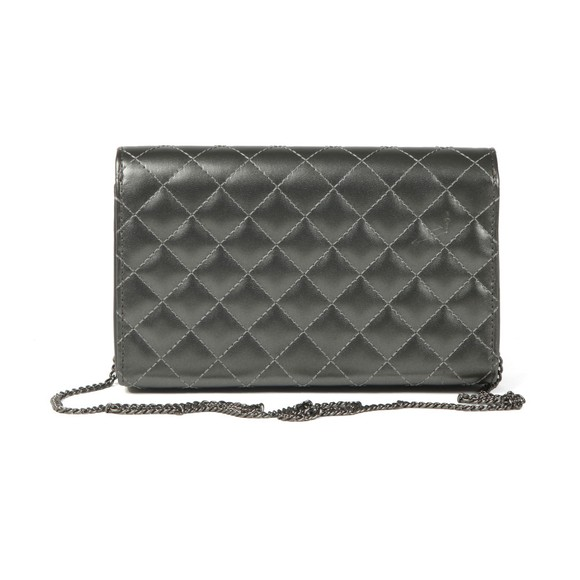Love Moschino Womens Grey Borsa Quilted Clutch main image