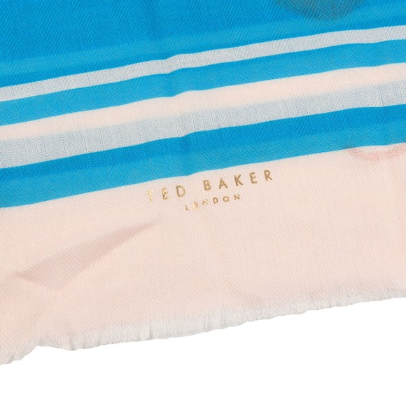 Ted Baker Womens Blue Colieen Fantasia Wide Scarf main image