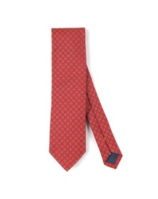 Eton Mens Red Flower Tie