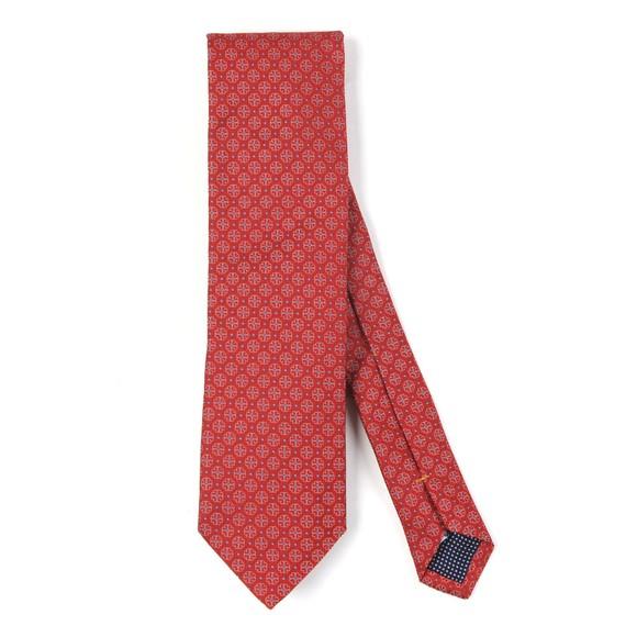 Eton Mens Red Flower Tie