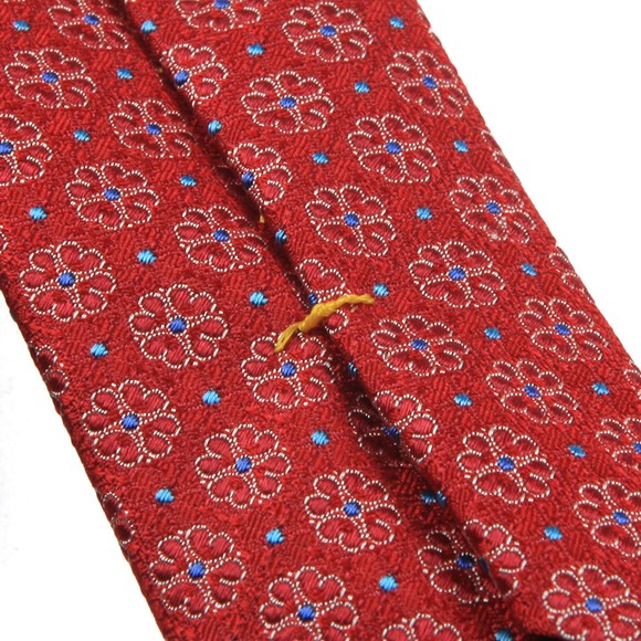 Eton Mens Red Flower Tie main image