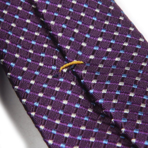 Eton Mens Purple Pin Dot Tie main image