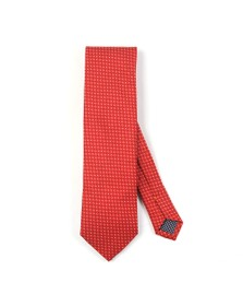 Eton Mens Red Pin Dot Tie