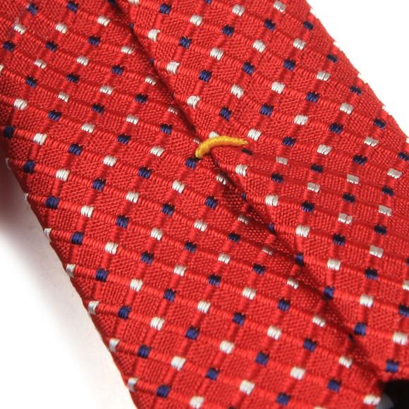 Eton Mens Red Pin Dot Tie
