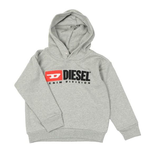 Diesel Boys Grey Diesel Denim Hoody main image