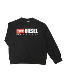 Diesel Boys Black Diesel Denim Sweatshirt