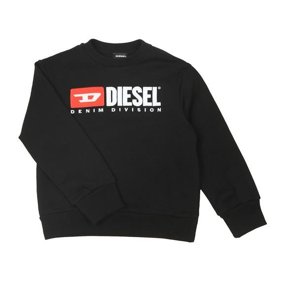 Diesel Boys Black Diesel Denim Sweatshirt main image