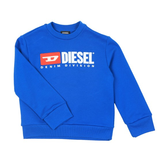 Diesel Boys Blue Diesel Denim Sweatshirt main image