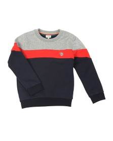 Paul Smith Junior Boys Grey Triple Panel Zebra Sweat