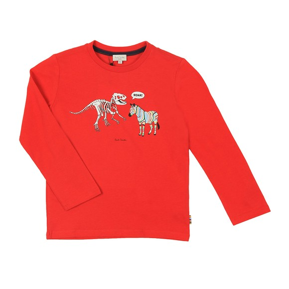 Paul Smith Junior Boys Red Vladou T Shirt