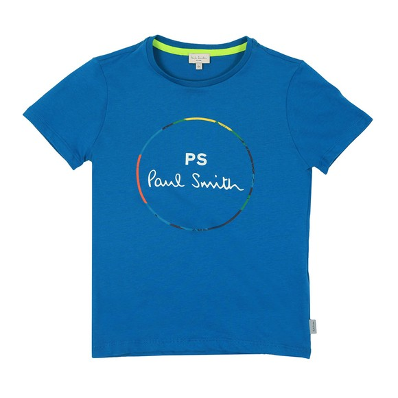 Paul Smith Junior Boys Green Neon Zebra Line T Shirt