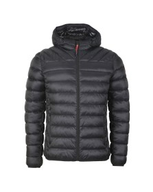 Napapijri Mens Black Aerons Hooded Jacket