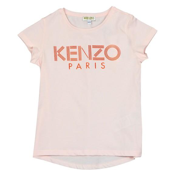 Kenzo Kids Girls Pink Girls Logo T Shirt