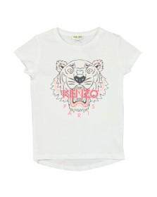 Kenzo Kids Girls White Printed Tiger T Shirt