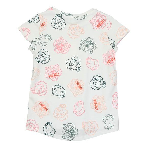 Kenzo Kids Girls White Greta Crazy Jungle T Shirt