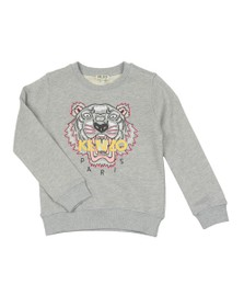 Kenzo Baby Girls Grey Embroidered Tiger Sweat