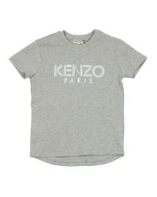 Kenzo Kids Boys Grey Sport Logo Crew T Shirt