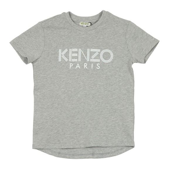 Kenzo Kids Boys Grey Sport Logo Crew T Shirt main image