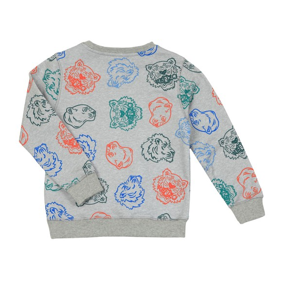 Kenzo Kids Boys Grey Georges Crazy Jungle Crew Sweatshirt main image