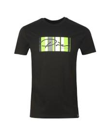 Pre London Mens Black Surrey Script T-Shirt