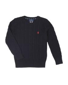 Polo Ralph Lauren Boys Blue Boys Cable Knit Jumper