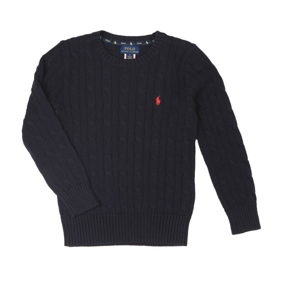 Polo Ralph Lauren Boys Blue Boys Cable Knit Jumper