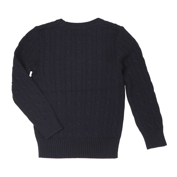 Polo Ralph Lauren Boys Blue Boys Cable Knit Jumper main image