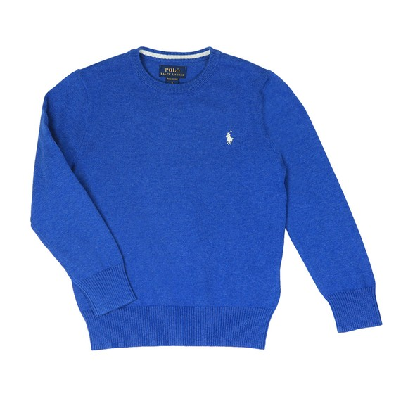 Polo Ralph Lauren Boys Blue Boys Fine Cotton Crew Jumper