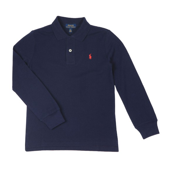 Polo Ralph Lauren Boys Blue Boys Long Sleeve Polo Shirt main image