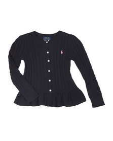 Polo Ralph Lauren Girls Blue Peplum Cardigan