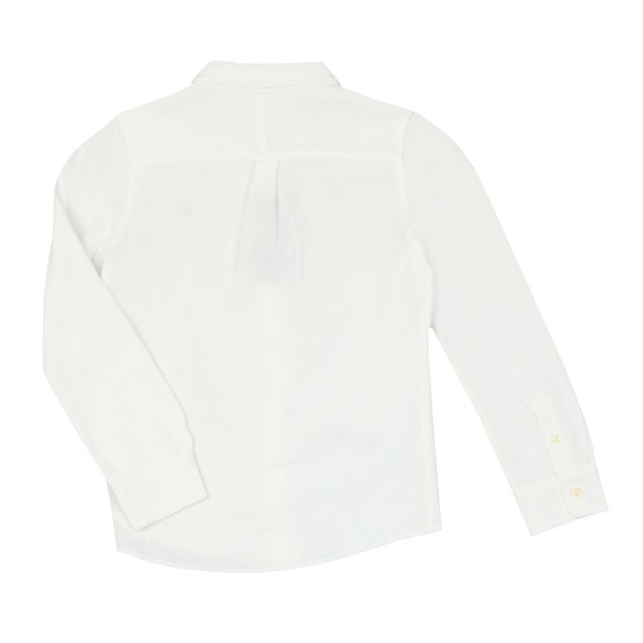 Polo Ralph Lauren Boys White Long Sleeve Knit Oxford Shirt main image