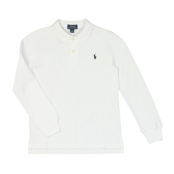 Polo Ralph Lauren Boys White Boys Long Sleeve Polo Shirt