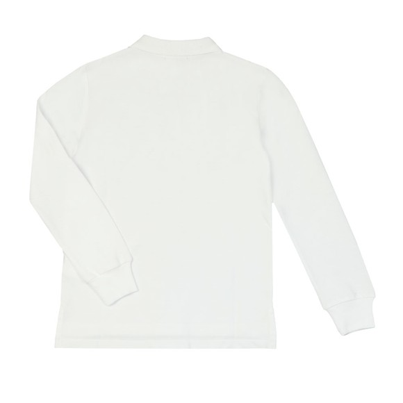 Polo Ralph Lauren Boys White Boys Long Sleeve Polo Shirt main image