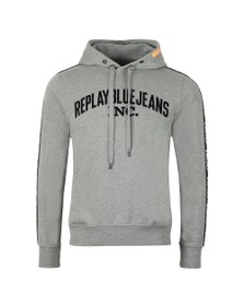 Replay Mens Grey Hooded Sweat