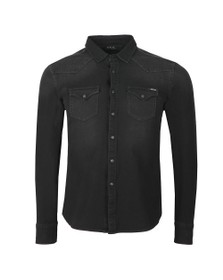 Replay Mens Black Hyperflex Denim Shirt