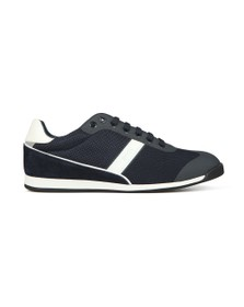 BOSS Mens Blue Glaze Low Mesh Trainer