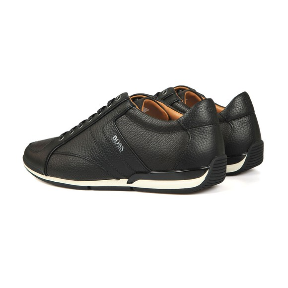 BOSS Mens Black Casual Saturn Low Leather Trainer main image
