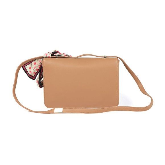 Love Moschino Womens Brown Metal Logo Small Bag main image