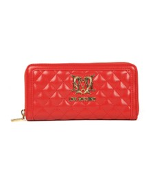 Love Moschino Womens Red Portafogli Quilted Purse