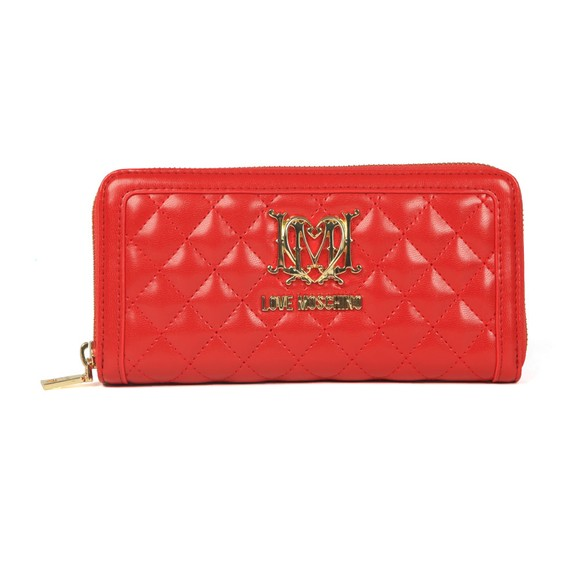 Love Moschino Womens Red Portafogli Quilted Purse main image