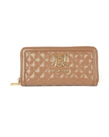 Love Moschino Womens Brown Portafogli Quilted Purse
