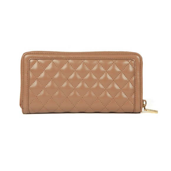 Love Moschino Womens Brown Portafogli Quilted Purse main image