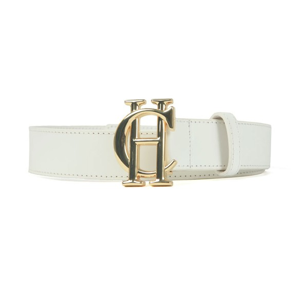 Holland Cooper Womens White HC Leather Belt