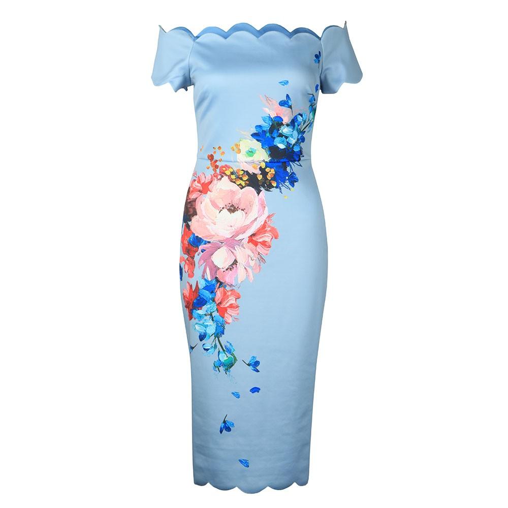 Hailly Raspberry Ripple Bardot Dress main image